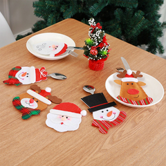 RONI  Christmas table decorations  creative cartoon cutlery covers. 01 2pcs