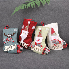 RONI 4pcs Christmas candy bags Christmas tree decorations medium gifts Christmas socks 01 4pcs