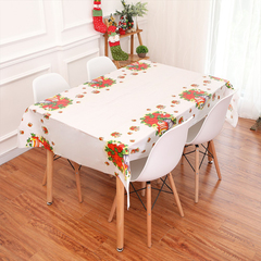 5pcs Christmas decorations rectangular table waterproof PVC plastic tablecloth disposable tablecloth 5 colors all code