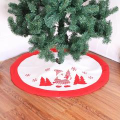 RONI  Christmas Tree Decoration high-end embroidery Christmas tree skirt 01 all code