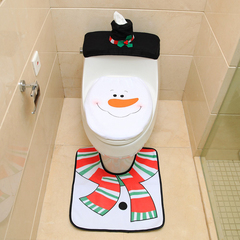 RONI Santa toilet sleeve suit toilet cover + foot pad + water tank cover + paper towel cover 01 All code