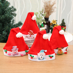 RONI 2pcs Cartoon stickers Christmas cap children Christmas ornaments random 2pcs