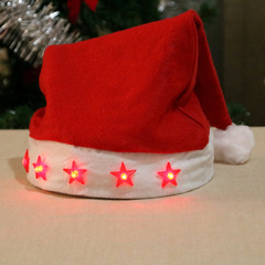 RONI 2pcs Bright Christmas hat shiny Christmas hat Santa hat Christmas hat Christmas decorations. 01 2pcs