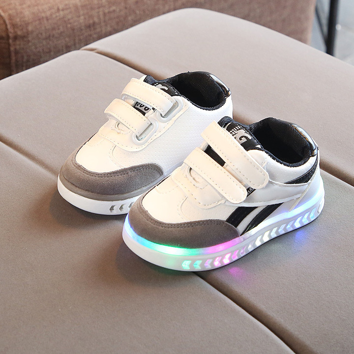 RONI Autumn Baby boy fashion light board shoes casual shoes  kids LED flash sneakers 01 21