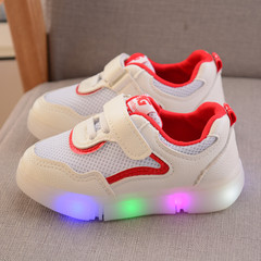 RONI Baby girl fashion  glowing casual shoes boy kids LED flash anti-skid board shoes 01 21