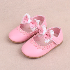 2018 Spring kids cute bow knot  shoes lace princess shoe girl baby walking shoes 01 15