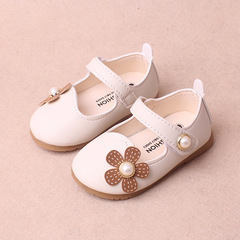 2018 Spring kids cute leather shoes flower  princess shoe girl baby walking shoes 01 15