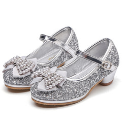 RONI Baby girl sequins bows diamond low heels  dress shoes princess shoes kids formal shoes 01 26
