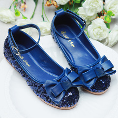 RONI Baby girl sequins bowknot dress shoes princess shoes kids formal shoes student leather shoes 01 25