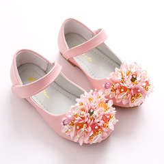RONI Baby girl flower dress shoes princess shoes kids formal shoes student leather shoes 02 27