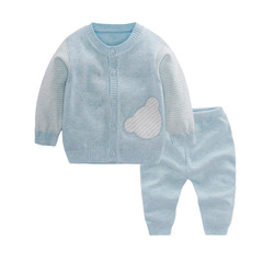 RONI Autumn Baby  Cotton Clothes Set Girls Cubs Sweaters Set Boys Tops+Pants two-piece set 01 59cm