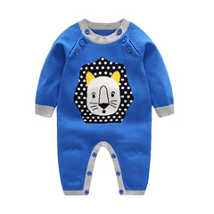 RONI Autumn baby cotton sweater clothes newborn cute jumpsuit boy crawl suit 01 66cm