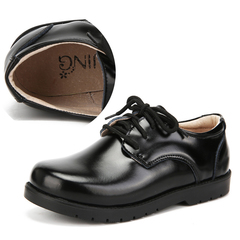 RONI Spring boys shoes student black real leather shoes kids dress shoes.performance shoes 01 26