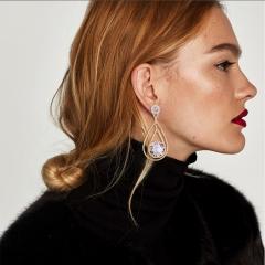 RONI Women exquisite zirconium ear nail lady temperament ear ornaments dress accessories 01 all code