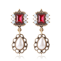 RONI Lady S925 silver needle earrings fashion temperament  pearl earrings dress accessories 01 all code