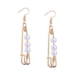 RONI Lady  fashion creative pin earring imitation pearl temperament ear ornaments dress accessories 01 all code