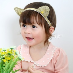 RONI Baby Golden  Cat Ear Headband Girl  Headwear 01