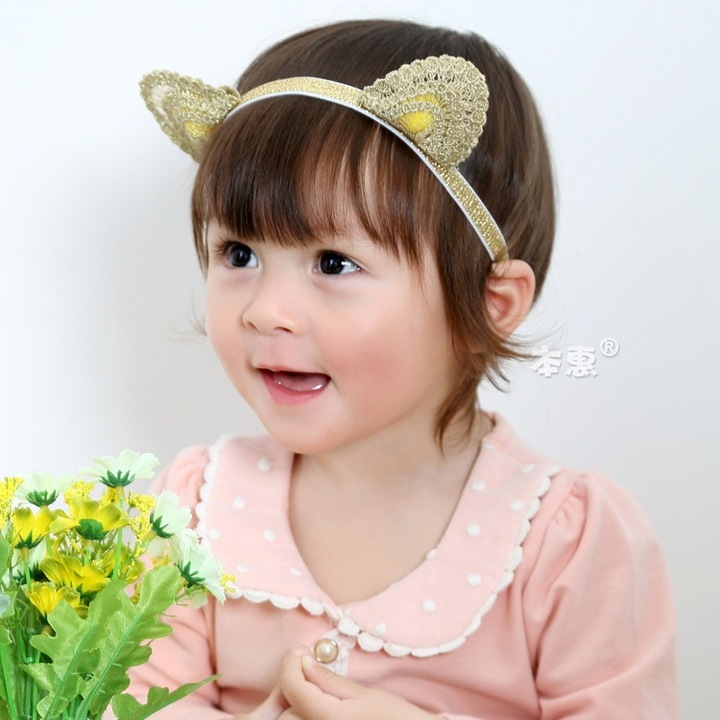 RONI Baby Golden  Cat Ear Headband Girl  Headwear 01