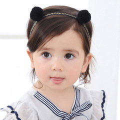 RONI  Baby cute double ball hairband girl  headdress 01
