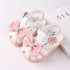 RONI 2019 Summer girls sweet  sandals baby non-slip soft bottom shoes princess shoes 01 15