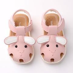 RONI 2019 Summer girls cute  cartoon sandals baby non-slip soft bottom shoes princess shoes 01 15