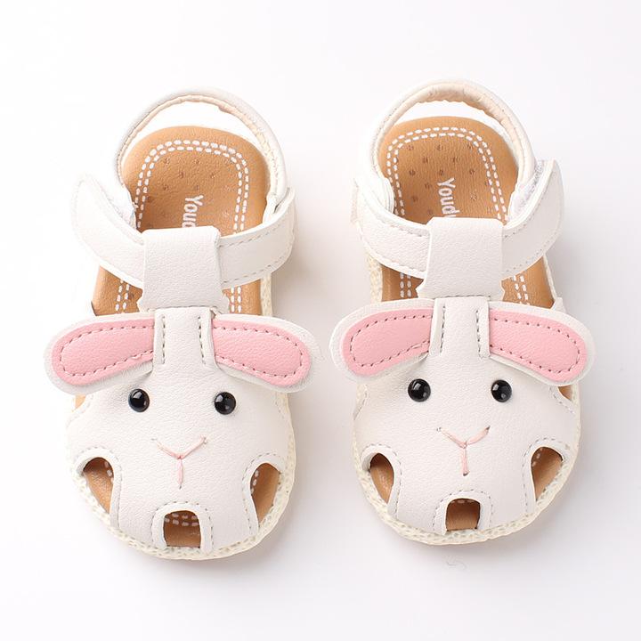 RONI 2019 Summer girls cute  cartoon sandals baby non-slip soft bottom shoes princess shoes 02 18