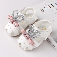 RONI 2019 Summer girls sweet  sandals baby non-slip soft bottom shoes princess shoes 01 16