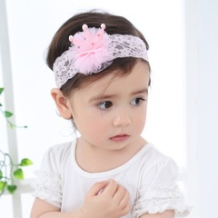 RONI Baby sweet shining crown elastic hairband girl headwear 01 all code