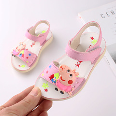 RONI 2019 Summer New Girl Cartoon Sandals  Kids Princess Shoes Baby  Beach Shoes 01 22