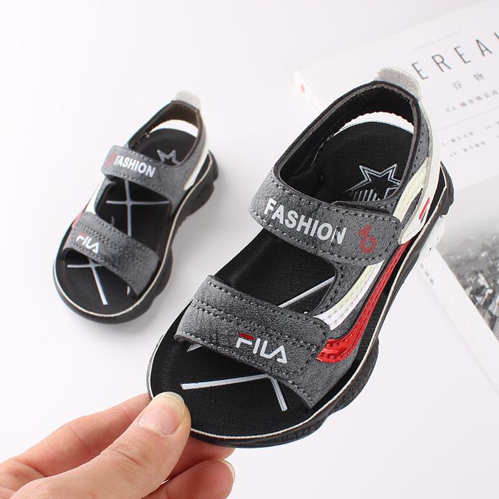 RONI 2019 Summer New Boy  Beach Shoes Kids  Fashion Sandals 01 21