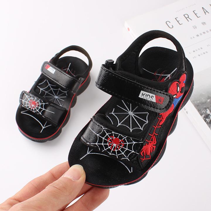 RONI 2019 Summer New Boy Beach Shoes Kids Fashion Spider-Man Sandals 01 22