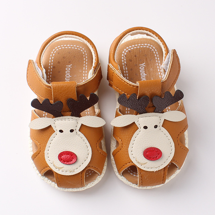 RONI 2019 Summer boys cute deer sandals baby non-slip soft bottom shoes 01 21