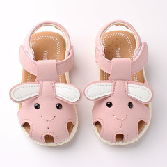 RONI 2019 Summer girls cute cartoon sandals baby non-slip soft bottom shoes princess shoes 01 21