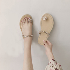 RONI Summer lady beach shoes  fashion pearl slippers  women shoes 01 35