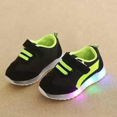 RONI Baby girl fashion glowing casual shoes boy kids LED flash anti-skid board shoes 01 23