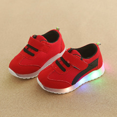 RONI Baby girl fashion glowing casual shoes boy kids LED flash anti-skid board shoes 04 25