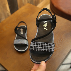 RONI 2019 Summer New Girl Fashion Beach Shoes Kids Diamond Princess Shoes Baby Sandals 01 26