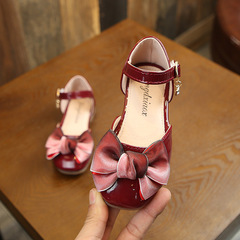 RONI 2019 Baby girl sweet dress shoes bowknot princess shoes student leather shoes 01 21