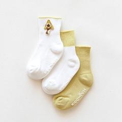 RONI 3 Pairs 2019 Autumn and winter baby girl cotton socks boy  non-slip socks 01 s