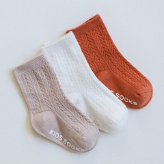 RONI 3Pairs 2019 Spring New Baby Boy Exquisite Cotton Socks Girls Non-slip Socks 01 xs(0-6M)