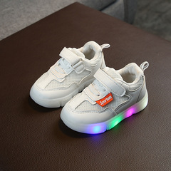 RONI 2019 Spring Baby boy fashion light board shoes casual shoes girl kids LED flash sneakers 01 21