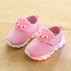 RONI 2019 Spring Baby boy cartoon light board shoes casual shoes girl kids LED flash sneakers 01 22