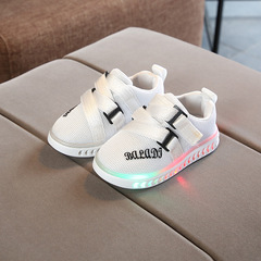 RONI 2019 Spring Baby boy fashion sports light board shoes casual shoes girl kids LED flash sneakers 01 21