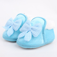 RONI 2019 Winter baby girl sweet thick cotton shoes  warm shoes Anti-Slip shoes 01 12