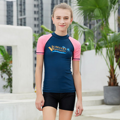 RONI  Baby Boy Sun-protective Swimsuit T-shirt Girl Kids Sports Diving Suit(Does not include shorts) 01 s