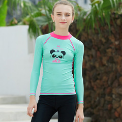 RONI Girl Cartoon Sun-protective Swimsuit T-shirt Kids Sports Diving Suit(Does not include shorts) 01 s