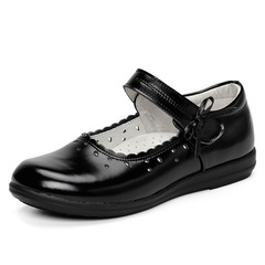 RONI Spring girls shoes student black real leather shoes kids dress shoes.performance shoes 01 26