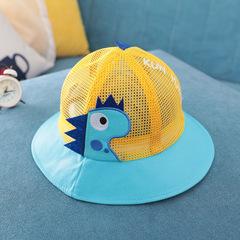 RONI 2019 Summer baby girl  cute cartoon net hat  boy sunshade hats yellow all code