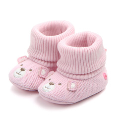 RONI  Spring  baby girl cute thick cotton shoes boy warm knitted shoes 01 12