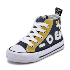 RONI Baby boy fashion sports breathable canvas shoes girl kids high shoes casual shoes 01 25